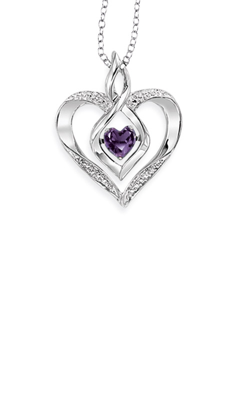 Rhythm of Love Sterling Silver Amethyst Heart Pendant ROL1165M  product image