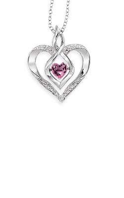 Rhythm of Love Sterling Silver Pink Tourmaline Heart Pendant ROL1165PTO product image
