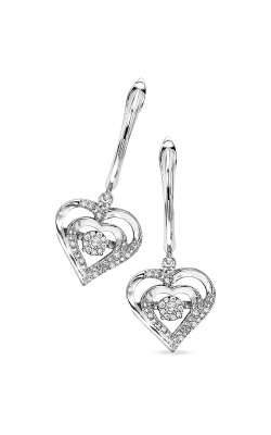 Rhythm of Love Sterling Silver .14ctw Heart Earrings ROL2029 product image