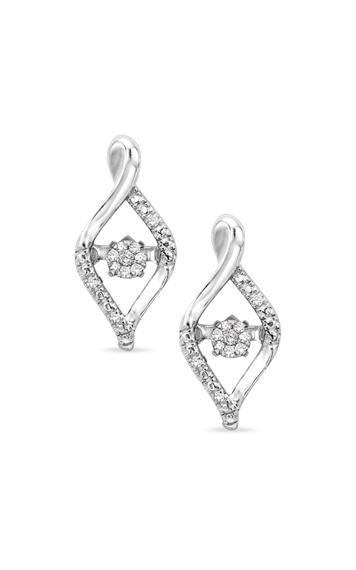 Rhythm of Love Sterling Silver Diamond Earrings ROL2031 product image