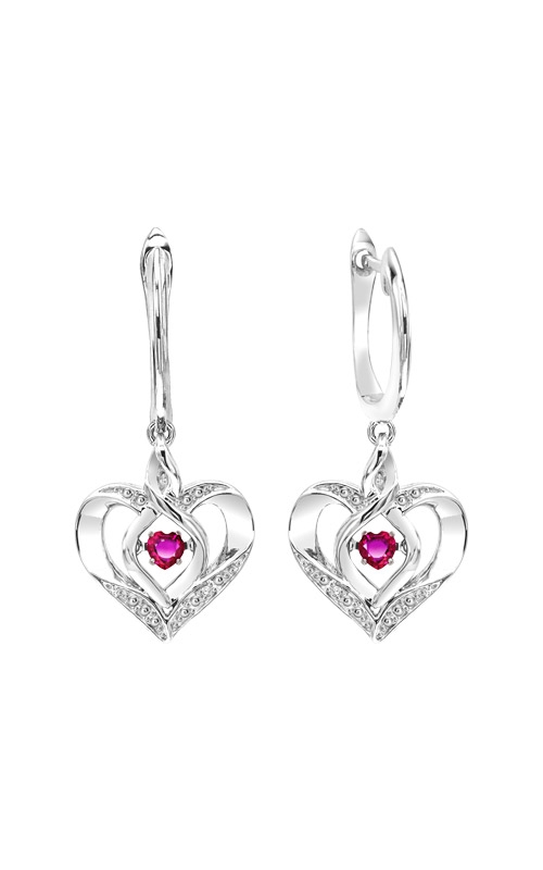 Rhythm of Love Sterling Silver Ruby Heart Earrings ROL2165R product image