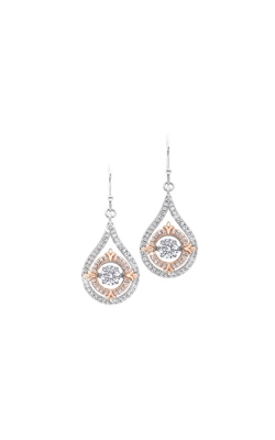 Rhythm of Love Sterling Silver CZ Earrings ER10153-SS product image