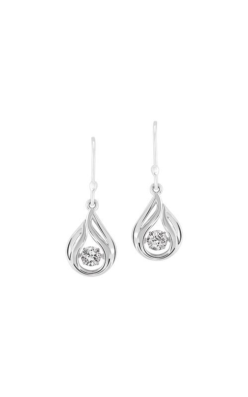 Rhythm of Love Sterling Silver Teardrop Earrings ER10332-SSW product image