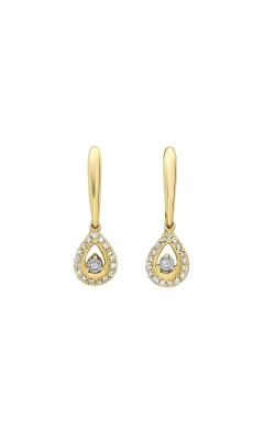 Rhythm Of Love 14k Yellow Gold 1/10ctw Diamond Drop Earrings ER28638-4YSC product image