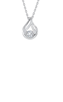 Rhythm Of Love Sterling Silver Teardrop Necklace PD10376-SSW product image