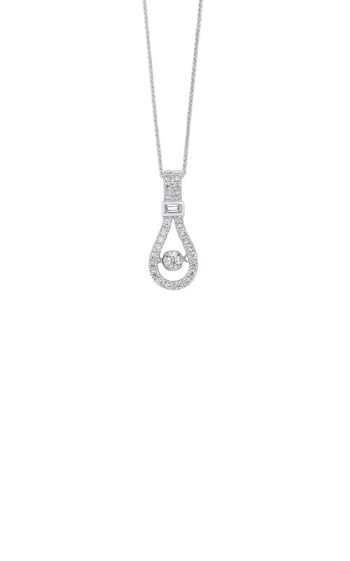 Rhythm of Love 14k White Gold 1/3ctw Diamond Necklace PD10532-4WC product image