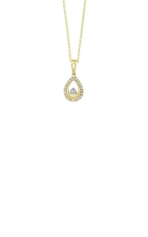 Rhythm of Love 14k Yellow Gold Diamond Necklace PD31614-4YSC product image