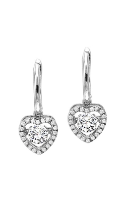 Rhythm Of Love 14k White Gold 3/4ctw Heart Earrings ROL1016 product image