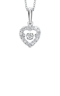 Rhythm Of Love 10k White Gold 1/5ctw Diamond Necklace ROL1021 product image