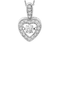 Rhythm of Love 14k White Gold 1/3ctw Diamond Heart Pendant ROL1084 product image