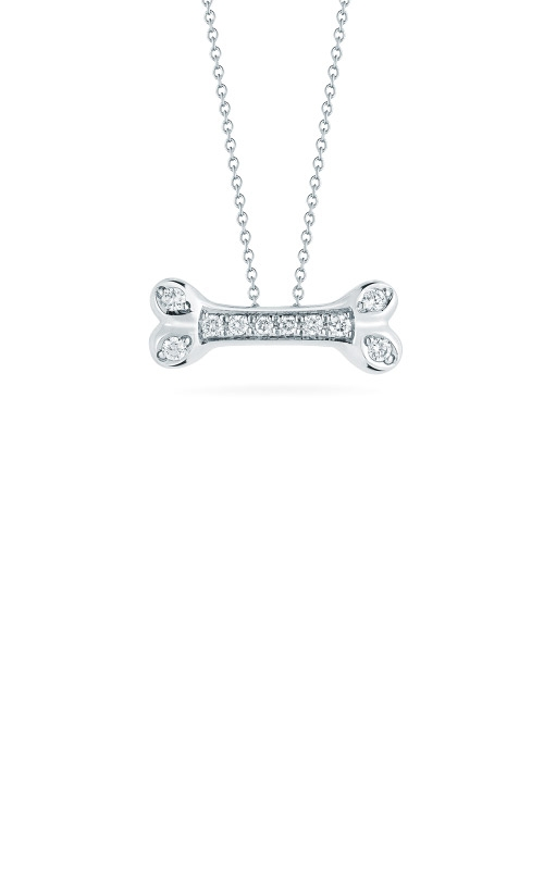 Roberto Coin 18kt Gold Dogbone Pendant With Diamonds 000329AWCHX0 product image