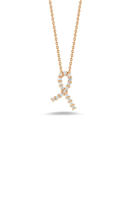 Roberto Coin 18kt Rose Gold Hope Ribbon Pendant With Diamonds 001251AXCHX0 product image