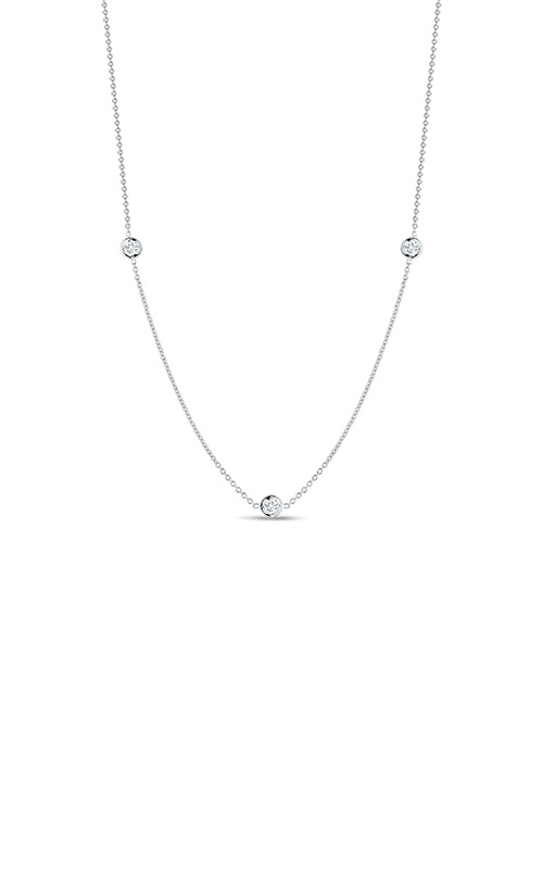 Roberto Coin 18kt Gold 3 Diamond Station Necklace 001317AWCHD0 product image