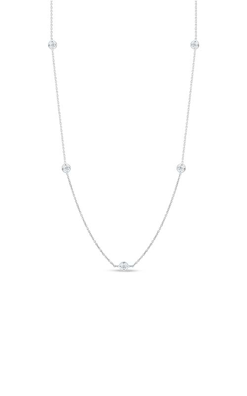 Roberto Coin 18kt Gold Necklace With 7 Diamond Stations 001347AWCHD0 product image