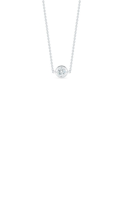 Roberto Coin 18kt White Gold Single Station Diamond Necklace 001355AWCHD0 product image