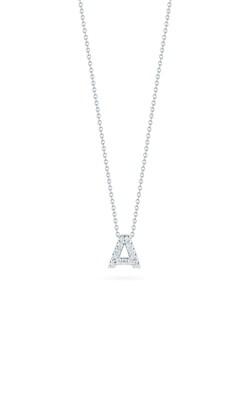 Roberto Coin 18kt Gold Love Letter A Pendant With Diamonds 001634AWCHXA product image