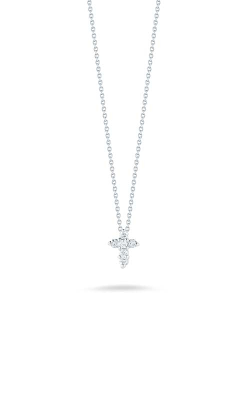 Roberto Coin 18kt Gold Baby Cross Pendant With Diamonds 001883AWCHX0 product image