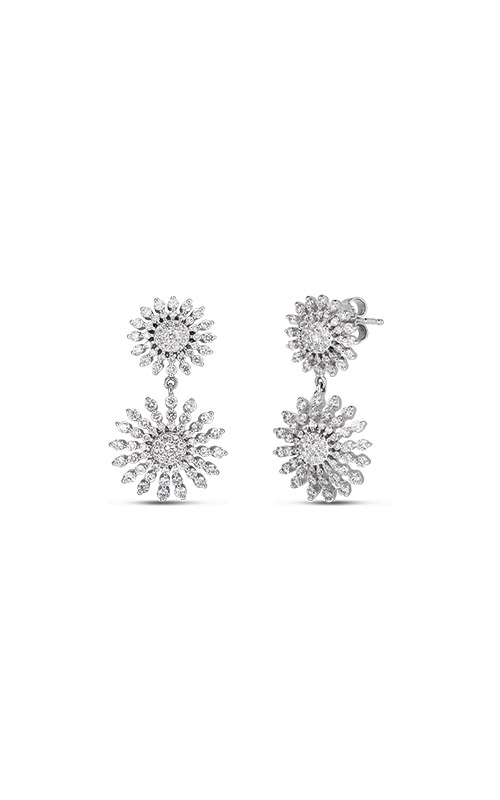 Roberto Coin 14k White Gold 2.35ctw Diamond Sunburst Earrings 111292AWERX0 product image