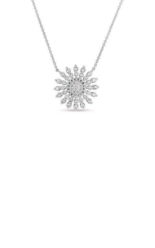 Roberto Coin 18k White Gold .70ctw Diamond Starburst Necklace 11292AWCHX0 product image