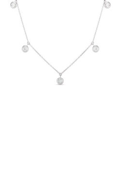 Roberto Coin 18k Five Diamond Drop Station Necklace 530009AWCHX0 product image