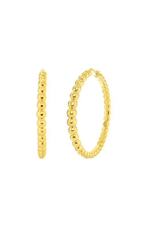 Roberto Coin 18kt Gold Bead XL Hoop Earring 6740584AYER0 product image