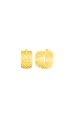 Roberto Coin 18k Yellow Gold Satin Textured 20mm Thick Hoop Earring 6740613AYER0 product image