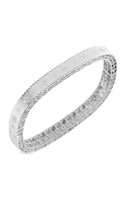 Roberto Coin 18kt Gold Satin Finish Slim Bangle With Fleur De Lis Diamonds 7771211AWBAX product image