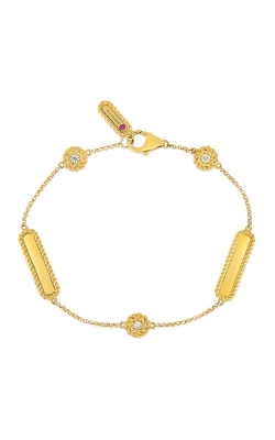 Roberto Coin 18kt Gold Bracelet With Alternating Diamond Stations 7771314AYLBX product image