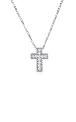 Roberto Coin 18kt Gold Diamond Square Cross Pendant 7771625AW18X product image