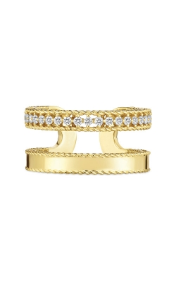 Roberto Coin 18kt Gold Double Symphony Princess Ring With Diamonds 7771682AY65X product image