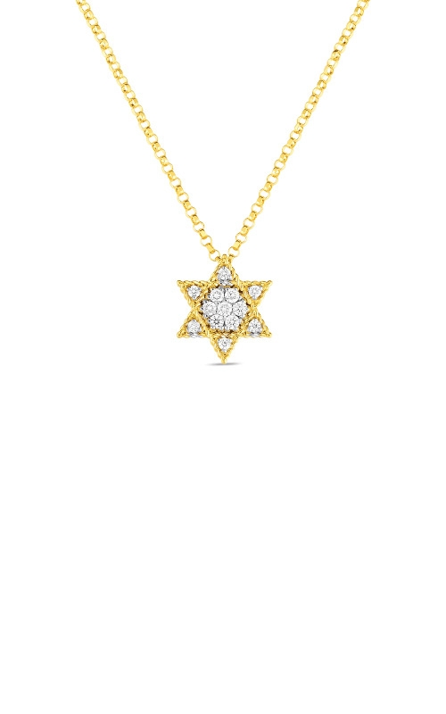 Roberto Coin 18kt Gold Princess Star Of David Pendant With Diamonds 7771773AJ18X product image