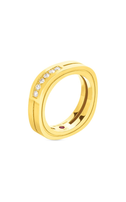 Roberto Coin 18kt 2 Row Square Shape Portofino Ring W. Diamond Accent 7771931AY65X product image