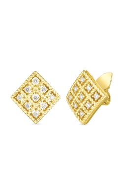 Roberto Coin 18k Gold & Diamond Byzantine Barocco Small Square Stud Earring 7772024AYERX product image