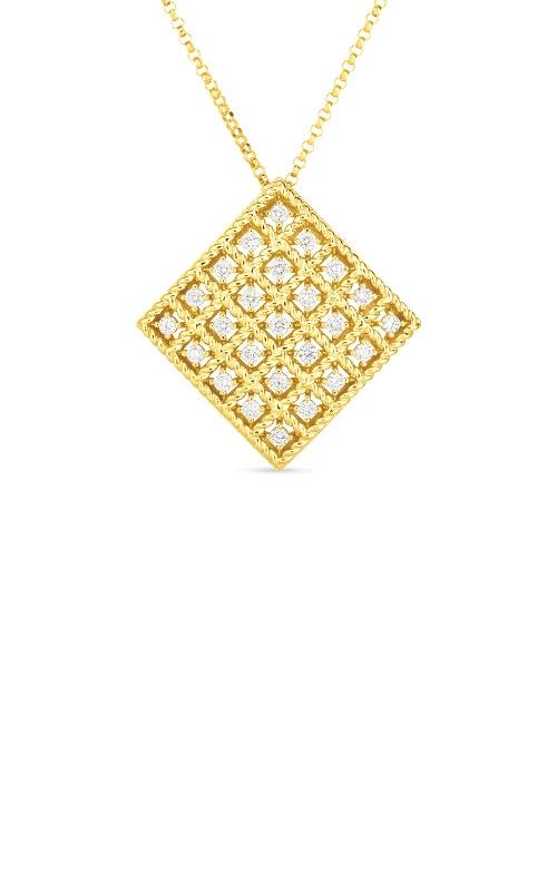 Roberto Coin 18k Gold & Diamond Byzantine Barocco Medium Pendant 7772026AYCHX product image