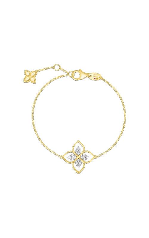 Roberto Coin 18k Yellow Gold .04ctw Princess Flower Diamond Bracelet 777271AJLBX product image