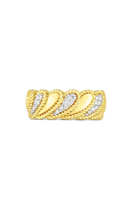 Roberto Coin 18k Yellow Gold .30ctw Byzantine Barocco Polished Band 7772771AJ65X product image