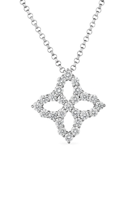 Roberto Coin 18k Diamond Outline Small Single Flower Pendant 8882348AW18X product image