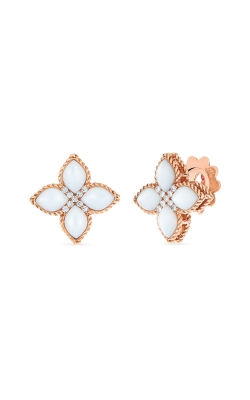 Roberto Coin 18kt Med Mother-Of-Pearl & Diamond Stud Earring 8882434AXERMX product image