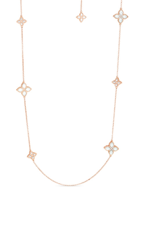 Roberto Coin 18kt Alternating Med & Sm Mother-Of-Pearl & Diamond Necklace 8882437AH33M product image