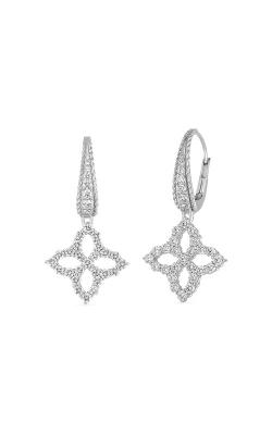 Roberto Coin 18k White Diamond Medium Flower Drop Earring 8882479AWERX product image