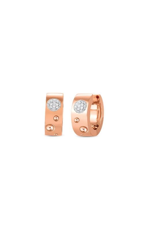 Roberto Coin 18k Gold & Diamond Pois Moi Luna Small Hoop Earring 8882504AHERX product image