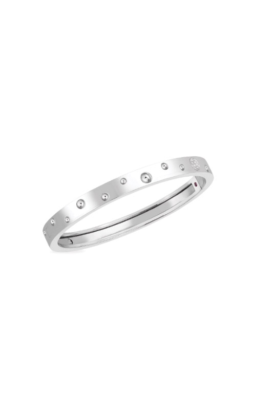 Roberto Coin 18k White Gold & Diamond Accent Pois Moi Luna Thin Bangle 8882504AWBAX product image
