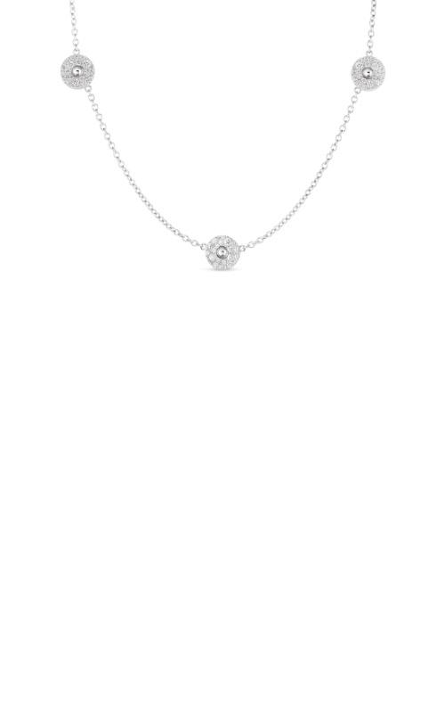 Roberto Coin 18k White Gold & Pave Diamond Pois Moi Luna 3 Station Necklace 8882617AWCHX product image