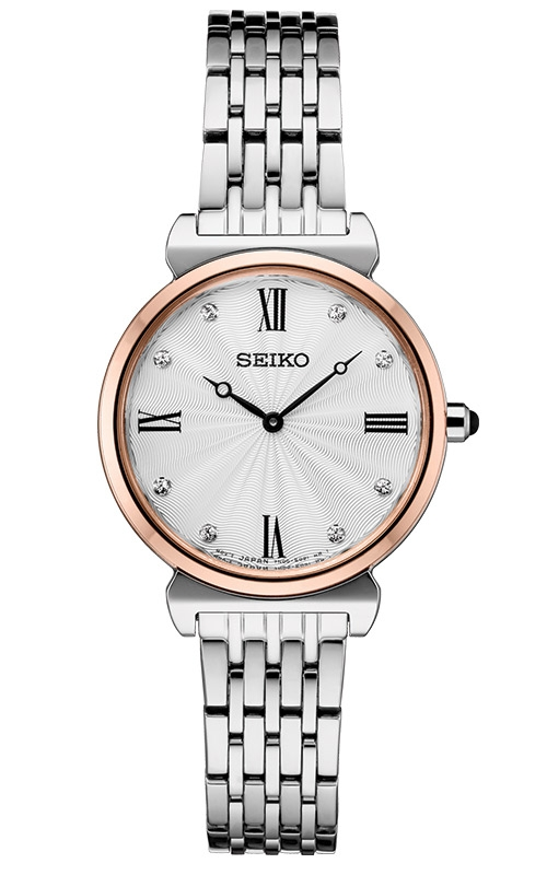 Seiko Essentials Ladies Crystal and Rose Gold Stainless Steel Watch SFQ798 product image