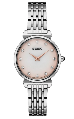 Seiko Essentials Ladies Crystal Mother of Pearl Watch SFQ803 product image