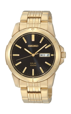 Seiko Essentials Men's Gold Tone Solar Watch SNE100 product image