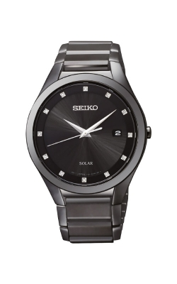 Seiko Men's Diamonds Solar Watch SNE243 product image