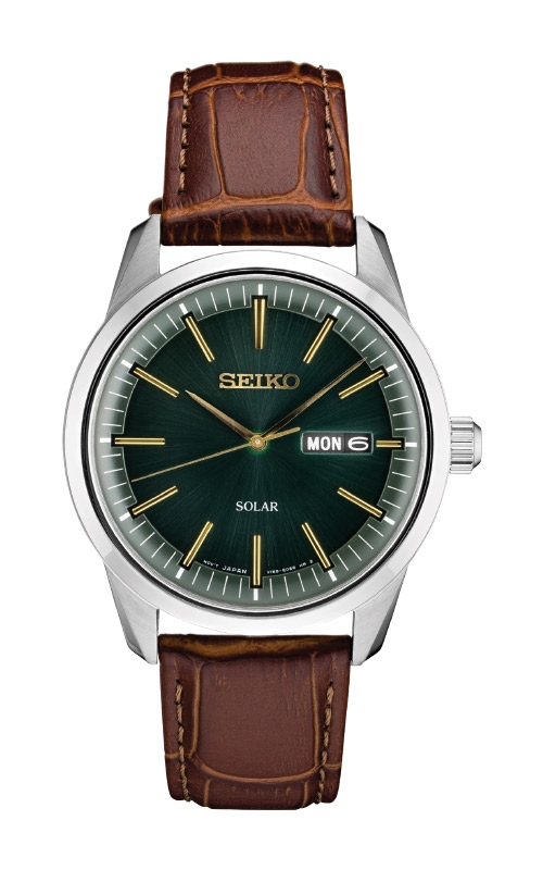 Seiko Essentials Men's Silver Tone Solar Watch SNE529 product image