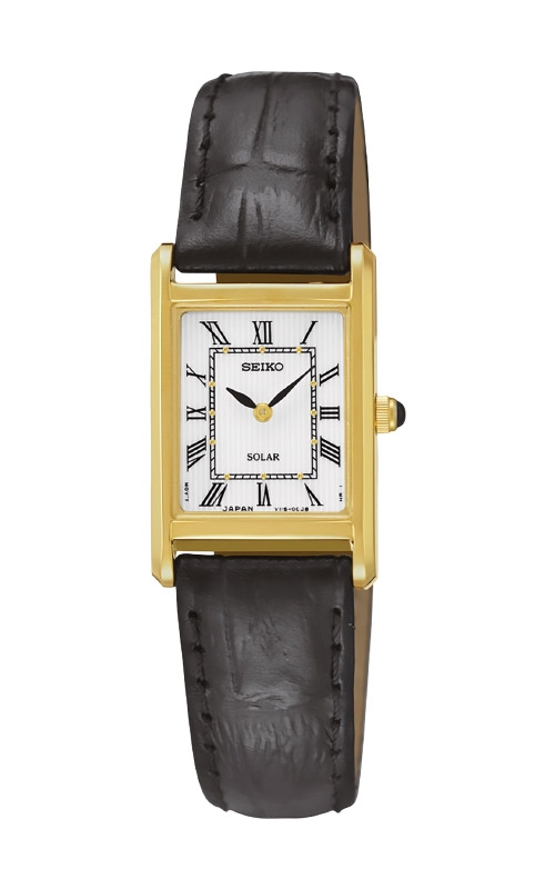 Seiko Essentials Ladies Solar Gold Tone Watch SUP250 product image