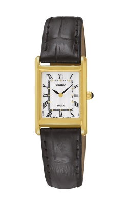 Seiko Essentials Ladies Solar Gold Tone Watch SUP250